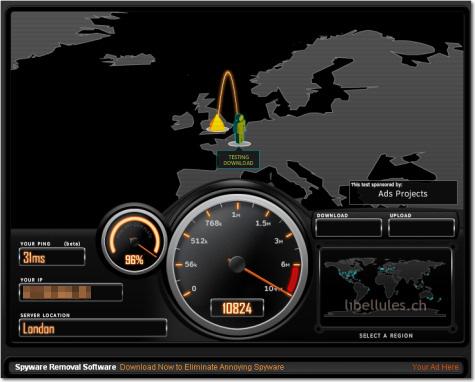 test bande vitesse adsl