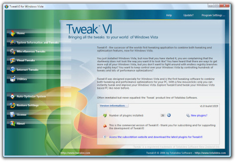 tweak vista