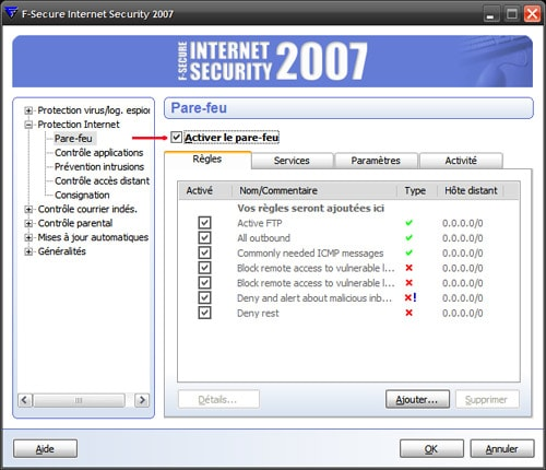 f secure internet security 2007: