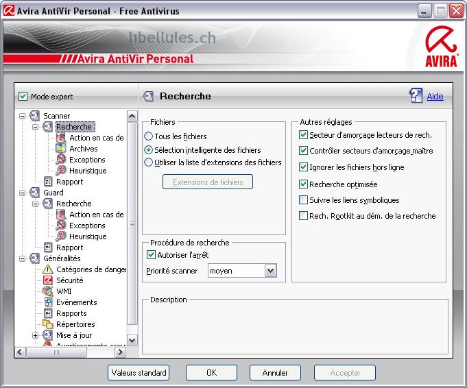configurer Antivir