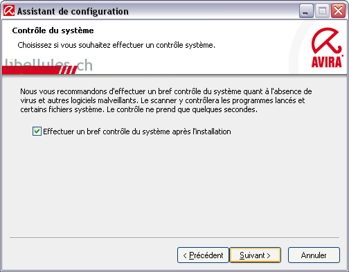configuration antivir