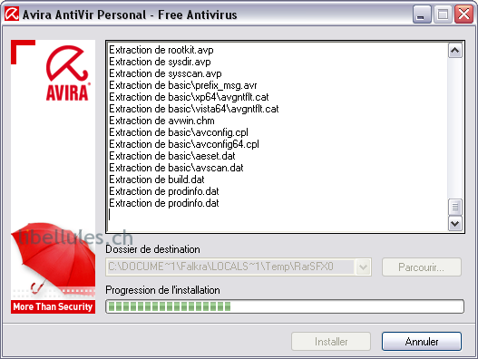 installation Antivir