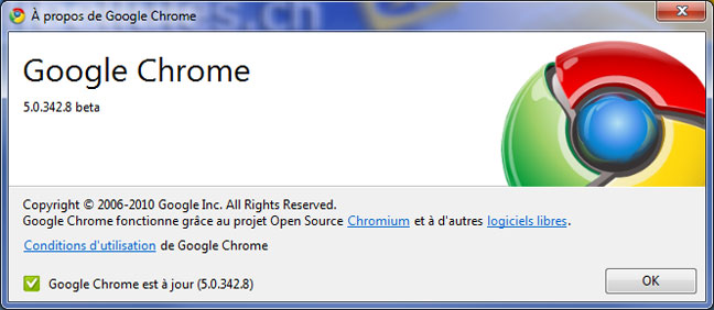 Google propose la version bêta 5 de Google Chrome