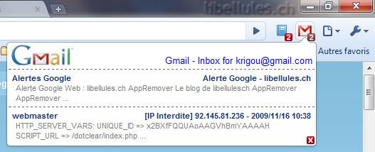 Gmail Checker pour Google Chrome