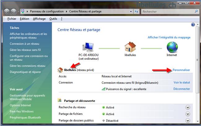 Vista - Comment changer le nom de votre réseau