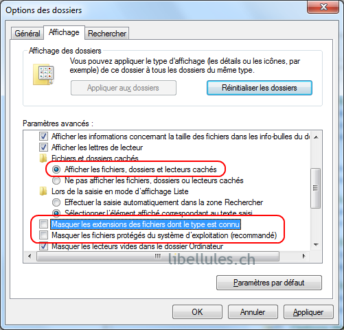 windows 8 comment afficher les dossiers caches