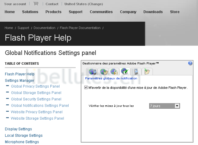mise � jour automatique Flash player plugin
