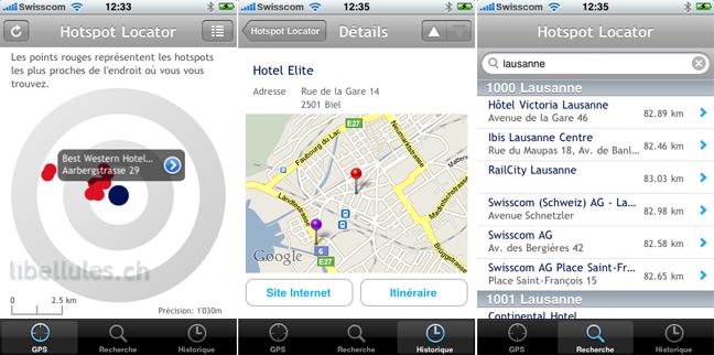 Swisscom Hotspot Locator