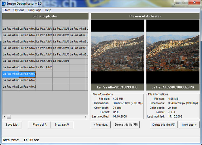 Image Deduplicator