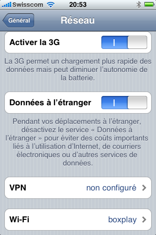 comment arreter la 3g sur iphone