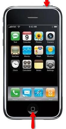 Capture d'écran avec iPhone