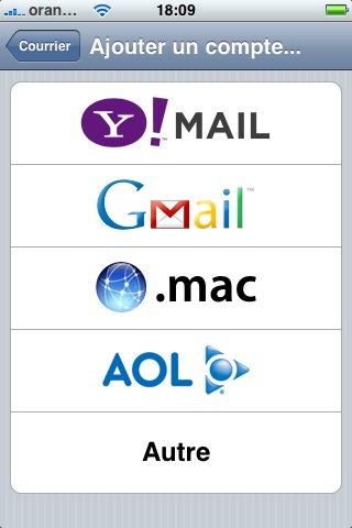 Comment configurer un compte e-mail sur un iPhone avec la version 1.1.4