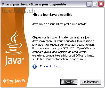 les anciennes versions de java install
