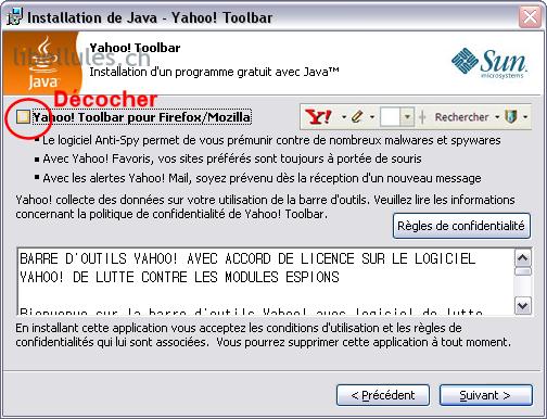 java sans toolbar yahoo