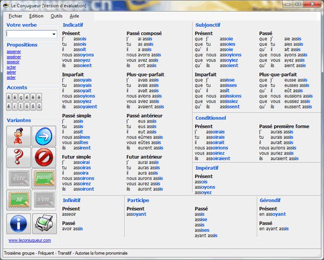 برنامج مصرف أفعال اللغة الفرنسية leconjugueur1.png