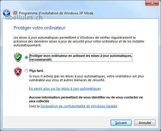 windows updates pour XP