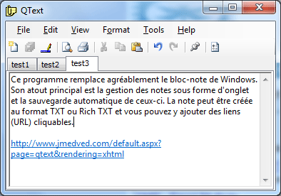 QText, le bloc-note