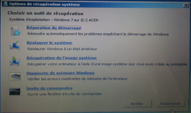 Windows 7 cr er un disque de r paration for Ouvrir fenetre dos windows 7