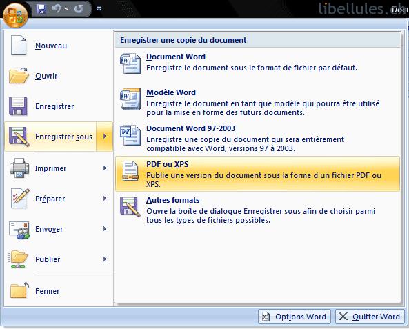 عملاق حفظ ملف اوفيس بصيغة PDF Saveaspdfandxps