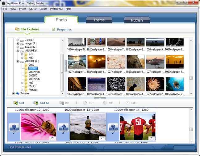 SkyAlbum Photo Gallery Builder