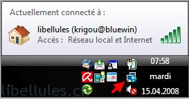 L'icône de connexion a disparue dans la barre des tâches !
