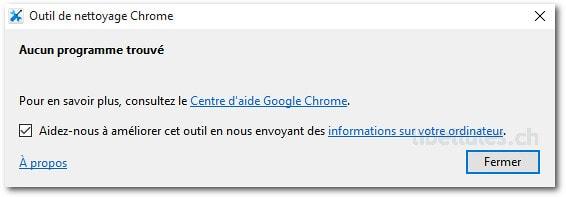 Outil de nettoyage Chrome