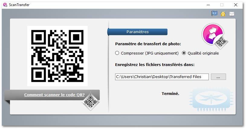 ScanTransfer - Scan the QR Code and Transfer Photos and Videos from your Phone to PC immediately