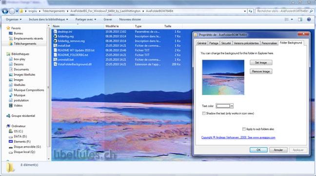AveFolderBG pour Windows 7