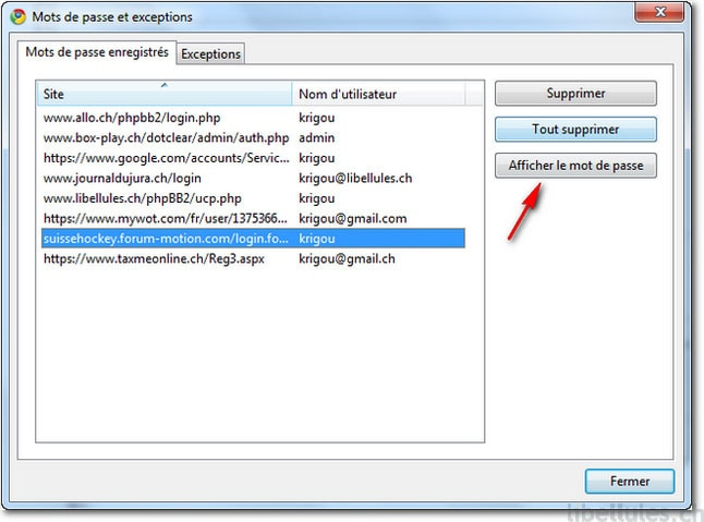 how to clear authosave password in chrome