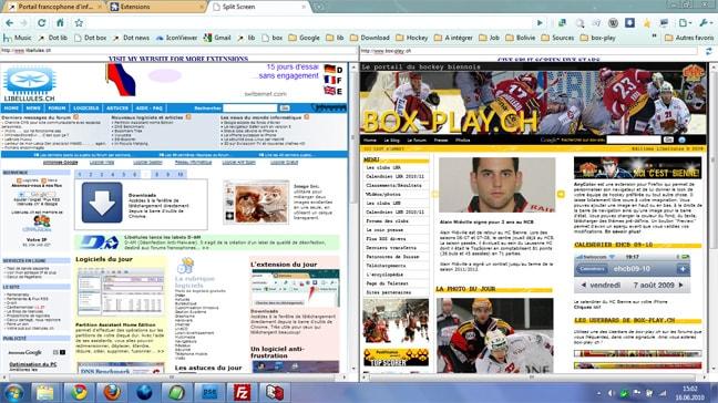 Split Screen pour Chrome