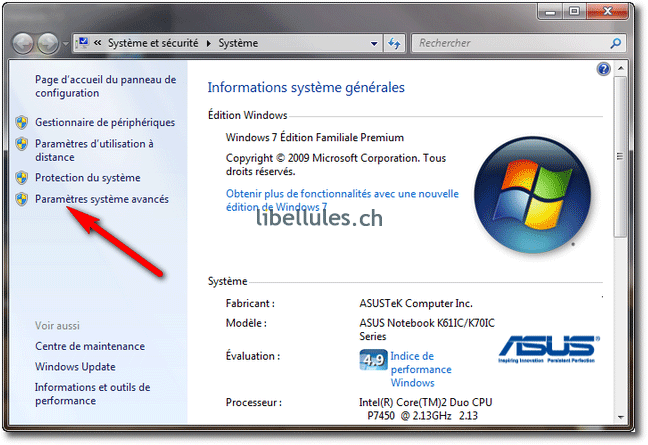 Suppression des points de restauration sous Windows 7