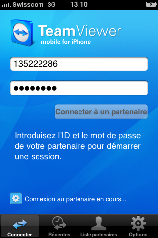 Teamviewer pour iPhone/iPad