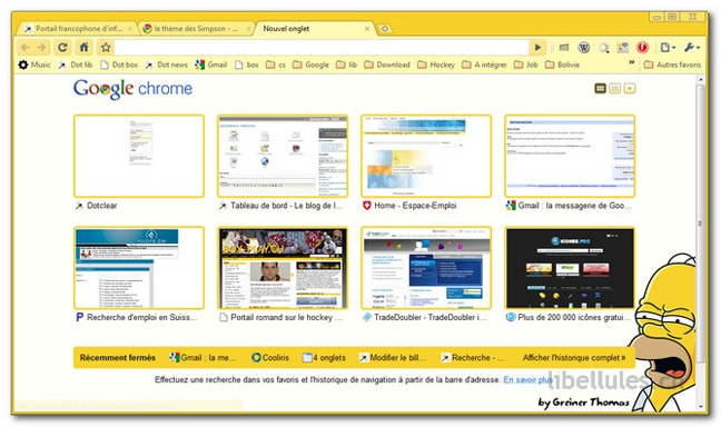 the Simpsons Theme 1.1 pour Chrome