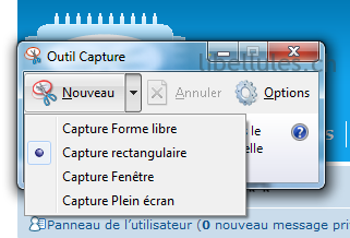 L 39 outil de capture d 39 cran de windows portail for Ouvrir fenetre plein ecran windows 7