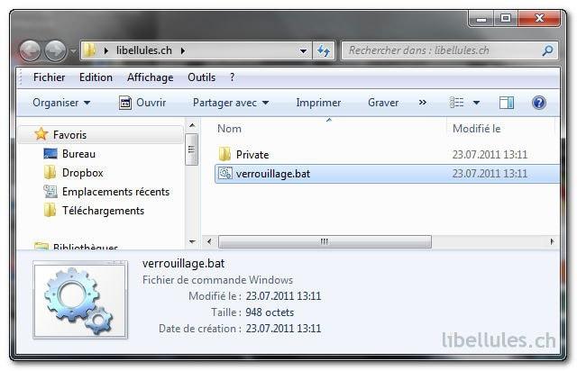 Windows 7 - Verrouillez un dossier sans aucun logiciel