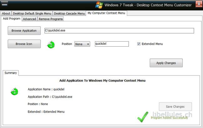 Windows 7 Tweaks - Desktop Context Menu Customizer