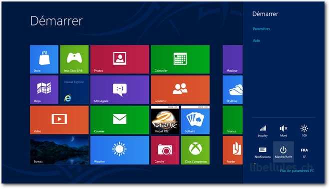 comment arreter de windows 8