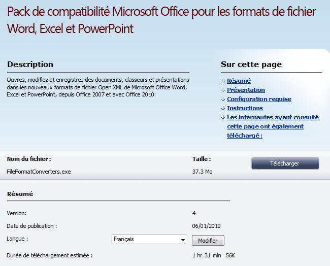 Mot cl convertisseur portail francophone d 39 informatique page 8 - Pack office pour mac gratuit ...