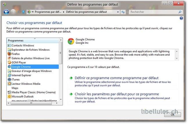 Windows 8 - Comment définir mon navigateur Web par défaut ?