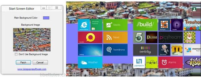 Windows 8 Start Screen Editor
