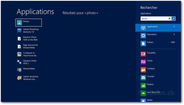 Lancer une application sous Windows 8