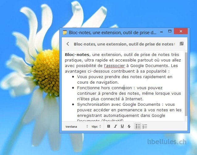 Bloc-notes pour Chrome