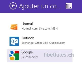 calendrier de Windows 8