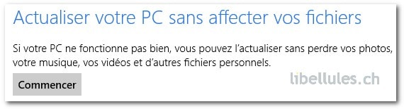 Restauration sous Windows 8