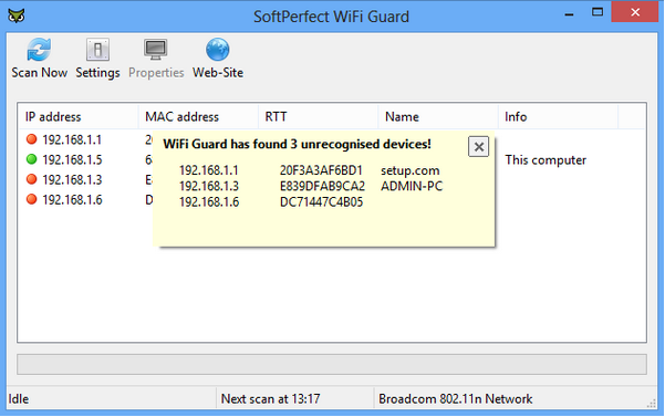 SoftPerfect WiFi Guard