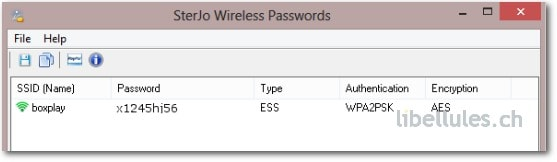 SterJo Wireless Passwords