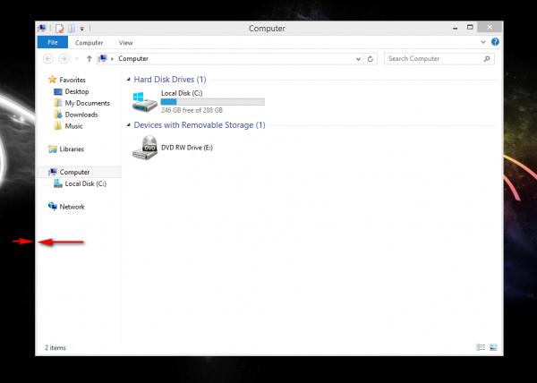 Tiny Windows Borders pour Windows 8