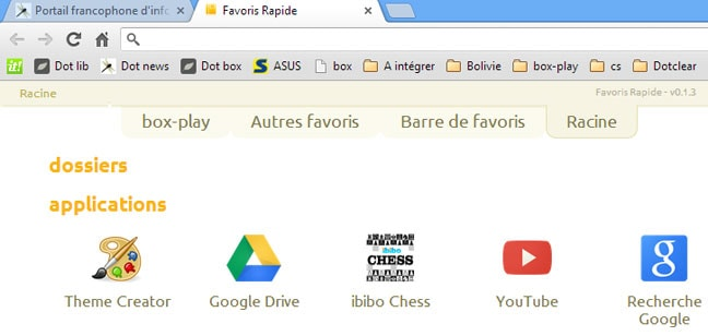 Favoris Rapide (Quick Bookmarks)