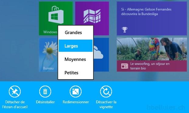 Windows 8.1 - Nouvelles options de l'écran d'accueil