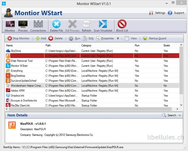 Monitor Wstart